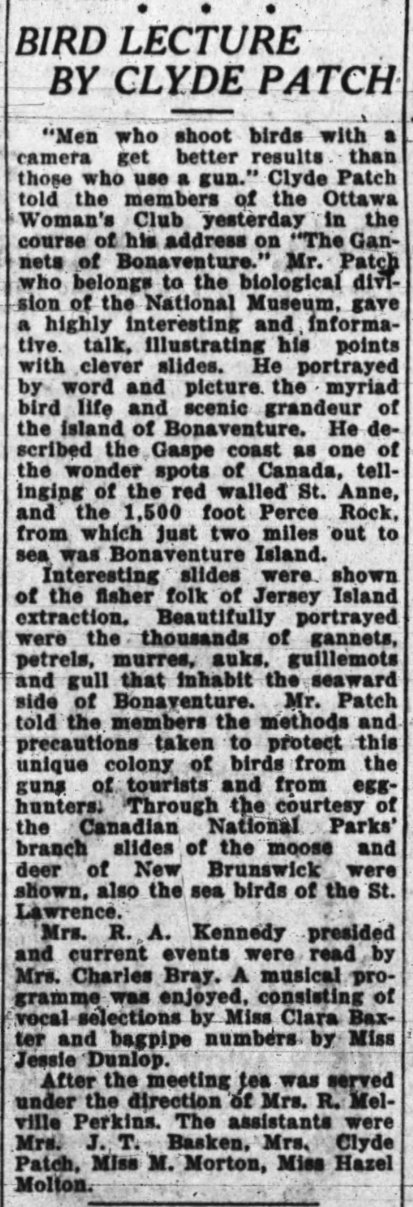 1927-01-28-Clipping-BirdLectureByClydePatch-Page2